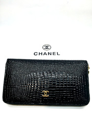 Chanel кошелек на молнии лакированный B9046