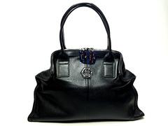 Вместительная кожаная сумка Philip Plein З8862