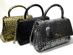 Золотая, серебряная и черная сумка Chanel 88340