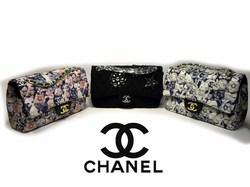 Сверх модный клатч из текстиля Chanel 1115 в трех вариантах