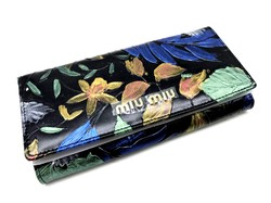 Произведение искусства - кожаный женский кошелек MIU-MIU M602