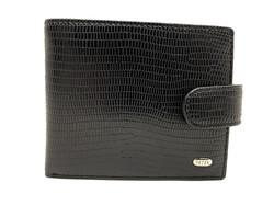 Компактное портмоне с фактурой змеиной кожи Petek PK-855