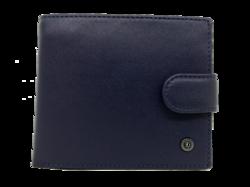 Темно синее кожаное портмоне Mont Blanc MB-8731