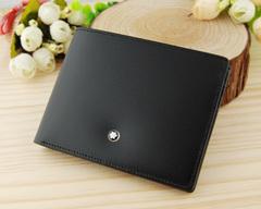 Лучший подарок мужчине к Новому году - мужской кожаный бумажник Montblanc MB-7165-3 (Реплика A++)